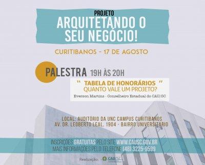 curitibanos arquitetando palestra honorários