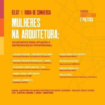 Roda de Conversa Mulheres na Arquitetura